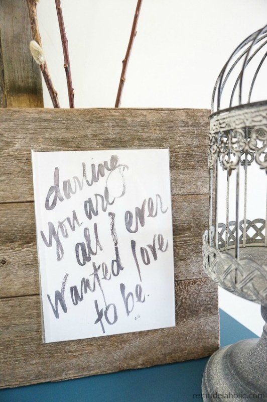 Valentine's Day Printable Set Of Watercolor Love Quote And Birch Tree Art With Custom Carved Initials @Remodelaholic