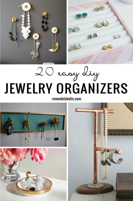 20 Easy DIY Jewelry Organizer Ideas Remodelaholic