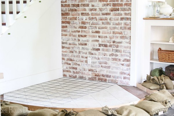 4 Update Your Hearth Using Concrete By She Holds Dearly Featured On @Remodelaholic