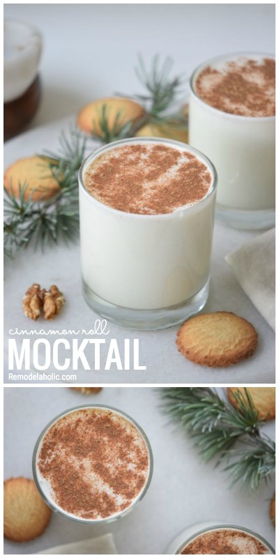 A Yummy And Fun Drink To Share. A Cinnamon Roll Mocktail. Recipe Via Remodelaholic.com