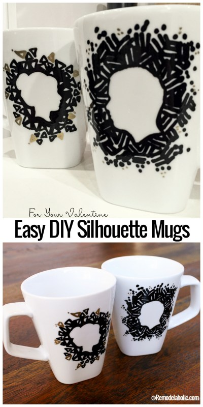 DIY Easy Diy Silhouette Mugs With Ceramic Sharpies By @remodelahoilc