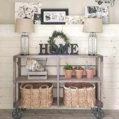 Kitchen Island Cart Target Sink Replacement Remodelaholic | Diy Farmhouse Entryway Inspiration