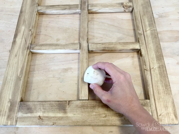 DIY Rustic Window Frame By Sawdust2Stitches For Remodelaholic.com 2
