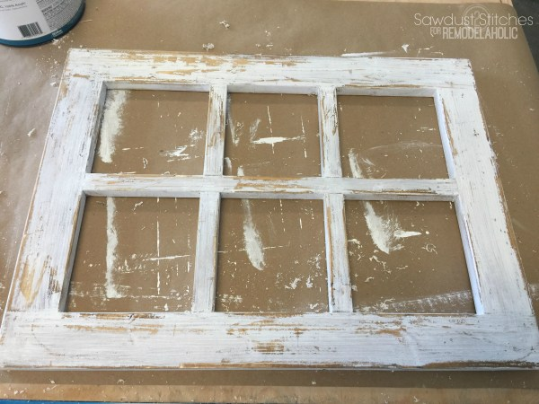 DIY Rustic Window Frame By Sawdust2Stitches For Remodelaholic.com 6