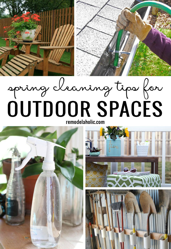 Easy Spring Cleaning Tips For Outdoor Spaces | How to spring clean your porch, patio furniture, and more at Remodelaholic.com