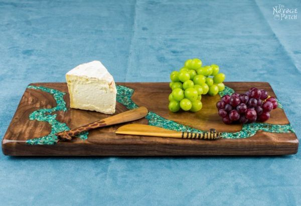 Turquoise Inlay Cheese Board 082