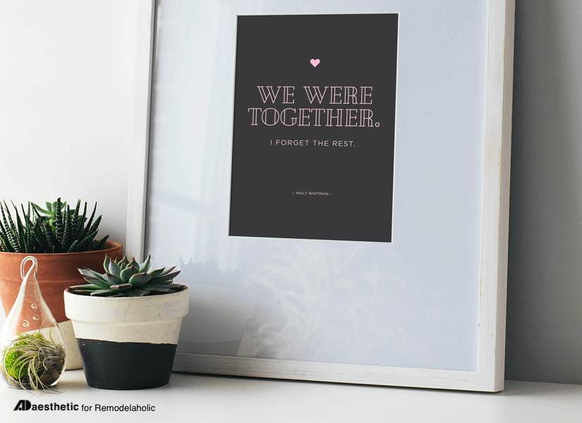 We Were Together • Free Printable Graphic • AD Aesthetic For Remodelaholic • Horizontal