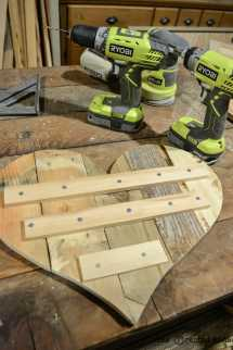 Rustic Diy Pallet Wood Hearts Free Templates