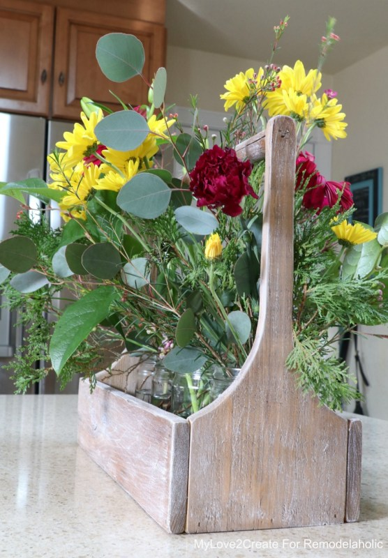 Flower Antique Crate Vertical, MyLove2Create