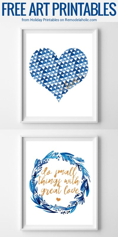 Free Non Traditional Valentine's Day Art Prints | Decorate for the day of love and every day with these non-traditional Valentine's Day art prints that you can leave up all year long.