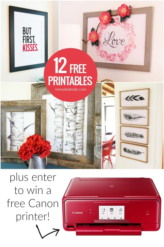 12 Free Printables | Print at home wall decor | Free art prints | Gift ideas