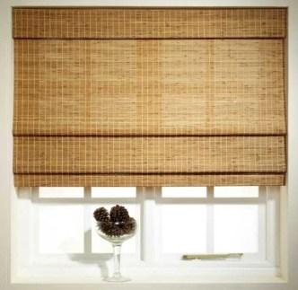 Neutral Living Room Bamboo Blinds
