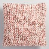 Neutral Living Room Rust Chunky Knit Throw Pillow