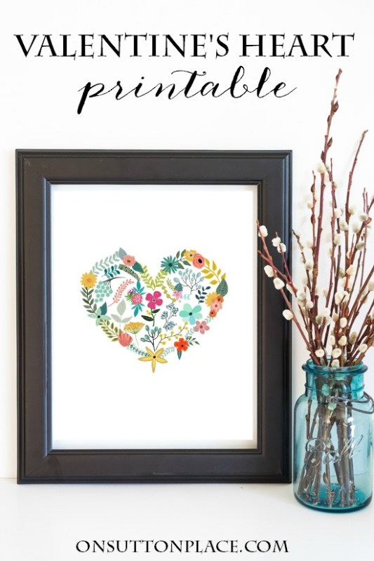Non Traditional Valentine's Day Art Print, Floral Heart, On Sutton Place