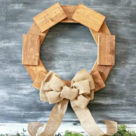 Scrap Project, Rustic Wood Wreath