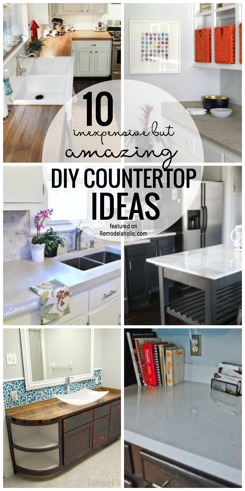kitchen remodels ideas shaker cabinet doors remodelaholic | 10 inexpensive but amazing diy countertop ...