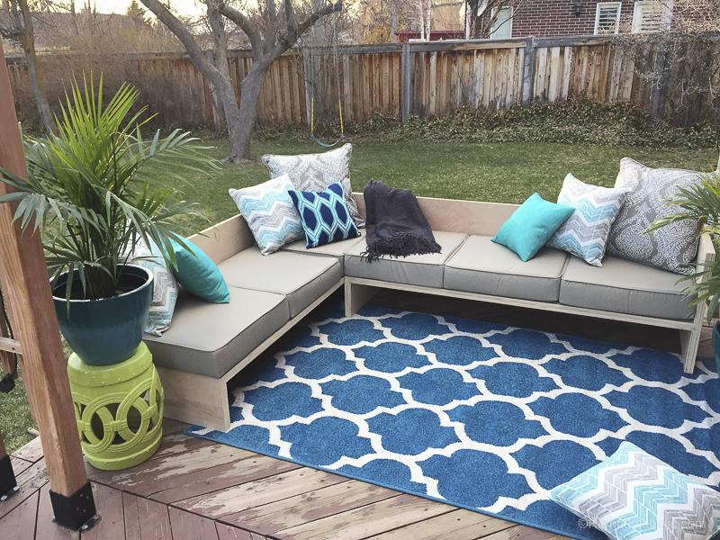 Enjoyable Remodelaholic Outdoor Sectional Sofa Reveal Pabps2019 Chair Design Images Pabps2019Com