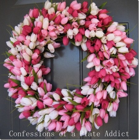 CONFESSIONS OF A PLATE ADDICT DIY Spring Tulip Wreath Thumb[1]