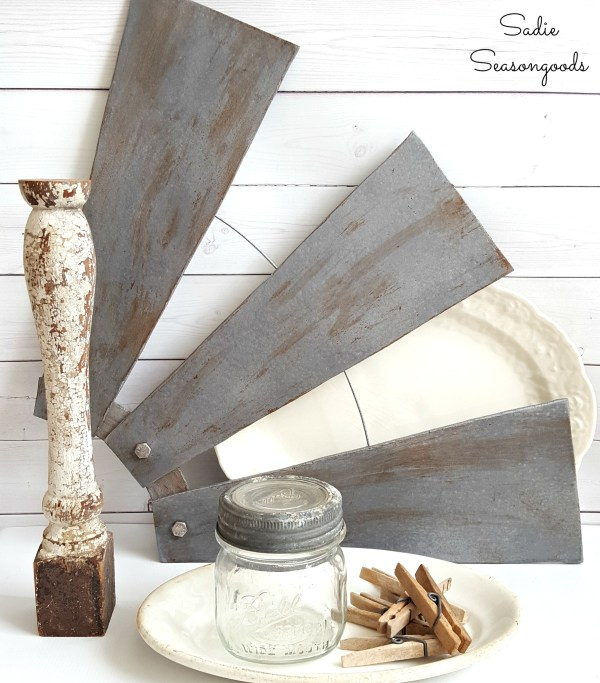 Ceiling Fan Blades To Be Repurposed As DIY Salvaged Windmill Farmhouse Style Decor By Sadie Seasongoods