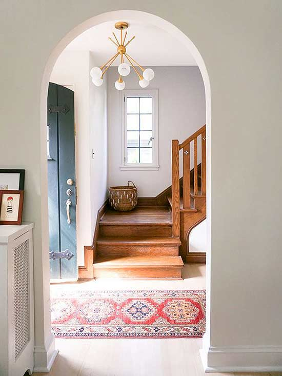 Entrance With Vintage Rug Via Better Homes And Gardens