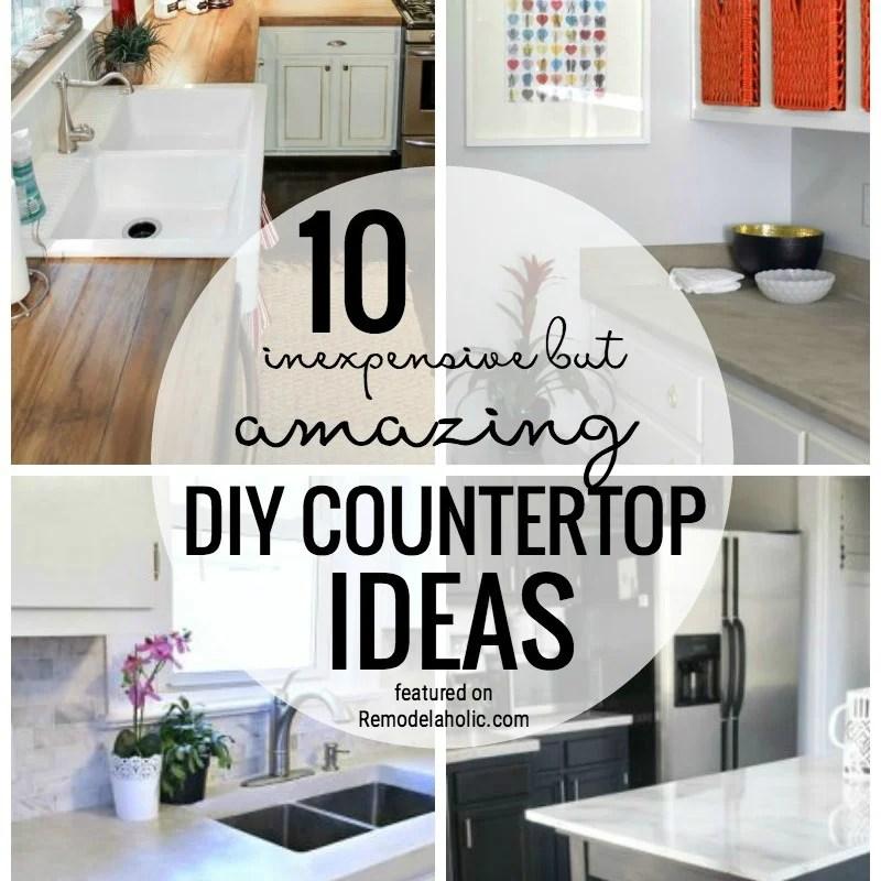 10 Inexpensive But Amazing DIY Countertop