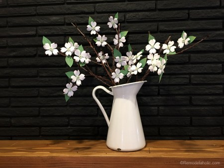 Paper Dogwood Flowers Tutorial And Free Printable @remodelaholic 6