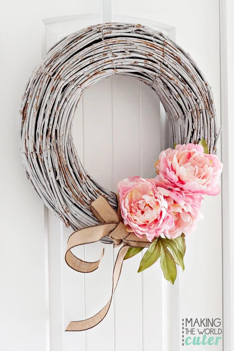White Winter Wreaths For Front Door Diy