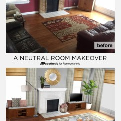 Burgundy And Brown Living Room Y Remodelaholic Real Life Rooms Neutral With A Decorate While Keeping Your Existing Sofas Make Couch