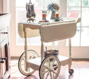 Tea Cart Makeover 014