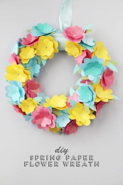 Diy Spring Paper Flower Wreath Gathering Beauty Blog