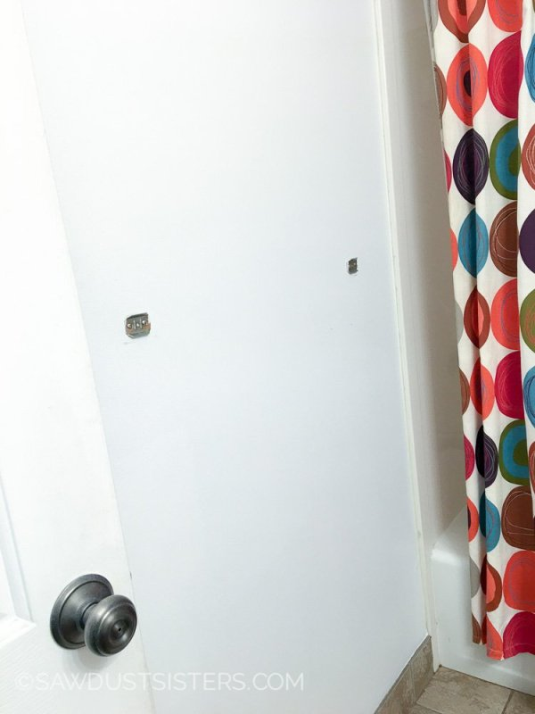 2 How To Update Your Bathroom Walls With A Plank Wall, By Sawdust Sisters Featured On @Remodelaholic