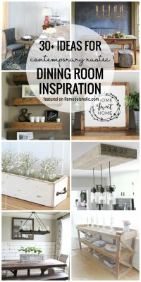 30+ Ideas For Contemporary Rustic Dining Room Inspiration