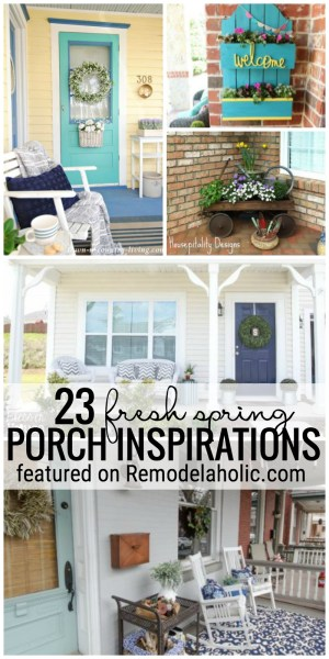 Add Some Spring Fun To Your Porch With These 23 Fresh Spring Porch Inspirations Featured On Remodelaholic.com