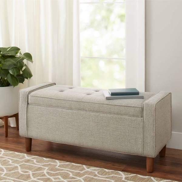 BHG Flynn Upholstered Storage Bench