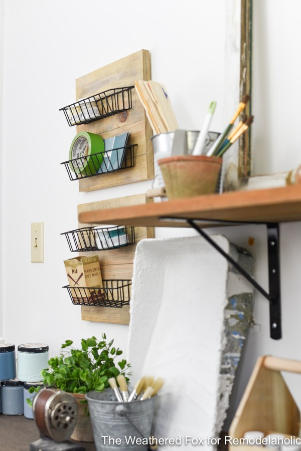 DIY Farmhouse Wall Baskets The Weathered Fox 3