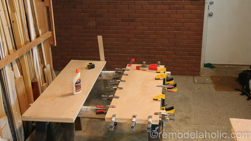 DIY Waterfall Plywood Console Table @remodelaholic 11