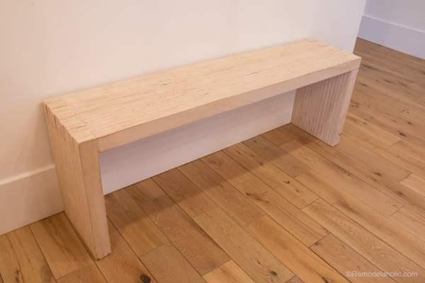 DIY Modern Plywood Bench Tutorial Half Lap Construction @remodelaholic 1