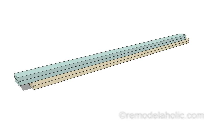 DIY Modern Plywood Bench Tutorial Half Lap Construction @remodelaholic 12