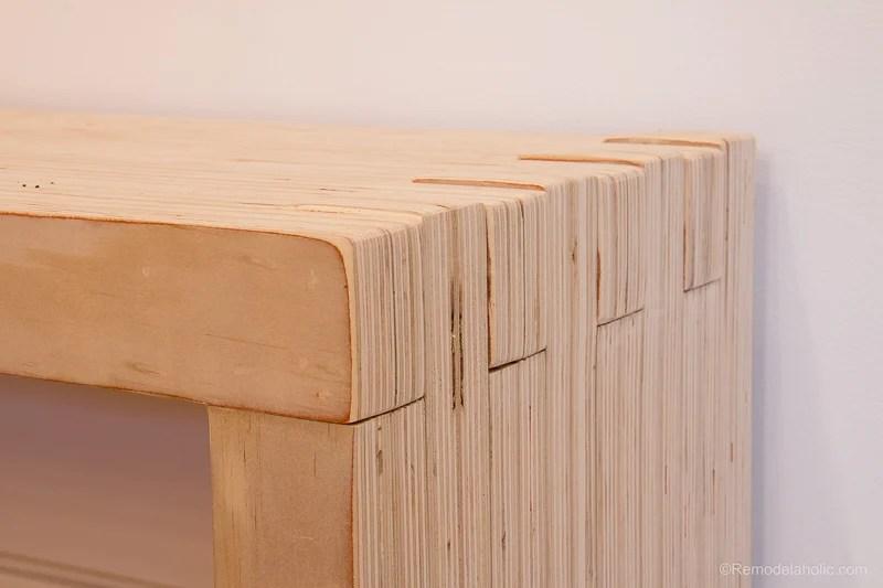 Remodelaholic Diy Modern Plywood Bench Tutorial Half