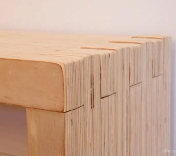 DIY Modern Plywood Bench Tutorial | Half Lap Construction
