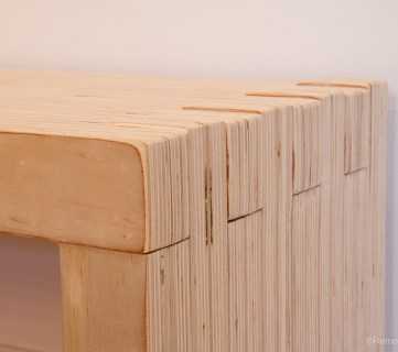 DIY Modern Plywood Bench Tutorial Half Lap Construction @remodelaholic 4