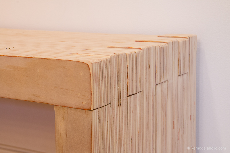 Cabinet Grade Plywood ~ Remodelaholic diy modern plywood bench tutorial half