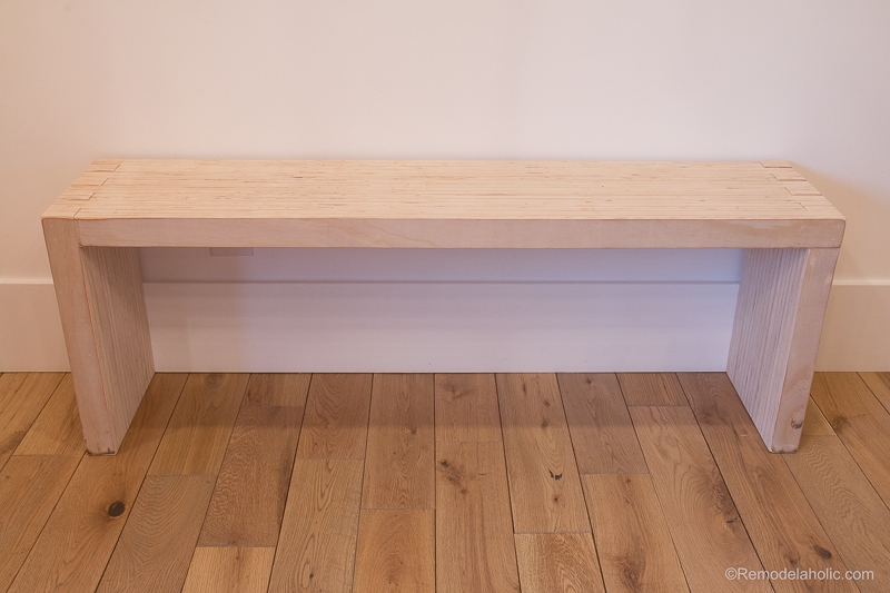 DIY Modern Plywood Bench Tutorial Half Lap Construction @remodelaholic 6