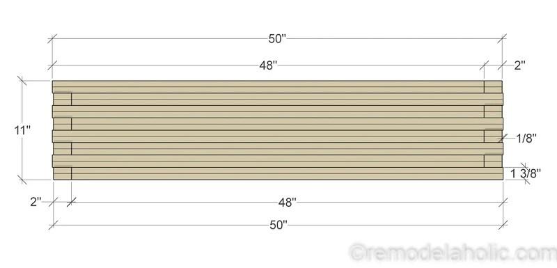 DIY Modern Plywood Bench Tutorial Half Lap Construction @remodelaholic 8