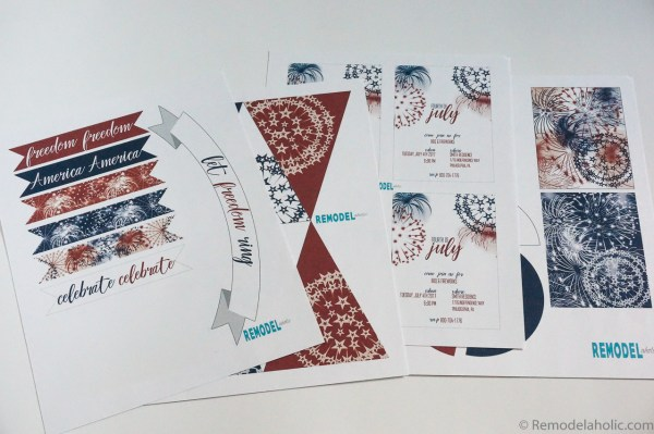 Free Printable Patriotic Party Pack Instructions via Remodelaholic.com