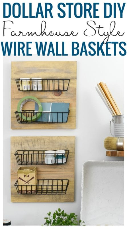 Remodelaholic Farmhouse Style Wire Wall Baskets From