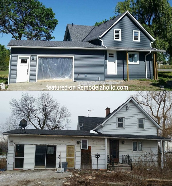 Exterior Farmhouse Makeover Featured On Remodelaholic.com