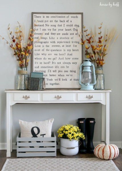 Fall Decorating Via House By Hoff 572x800