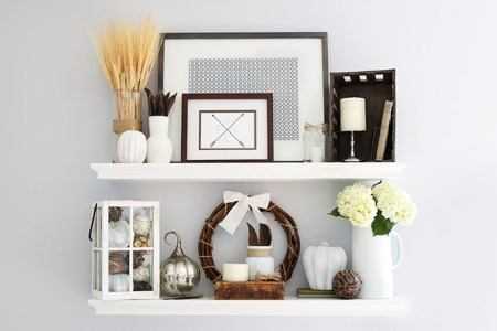 Fall Shelf Decor Horizontal