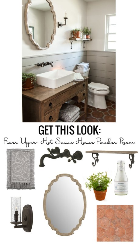 Get The Look Of Fixer Upper Hot Sauce House Powder Room A Charming Farmhouse